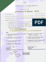 Sports Notice