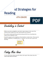 Skills and strategies for reading