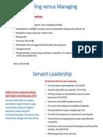Leading Versus Managing & Servant Leadership ICA