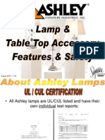 Ashley Lamp Accessory Features Safety