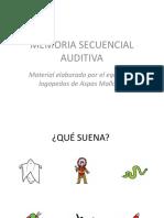 Memoria Secuencial Auditiva