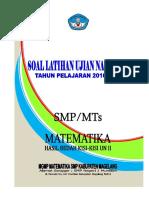 Soal Latihan Ujian Nasional 2016-2017