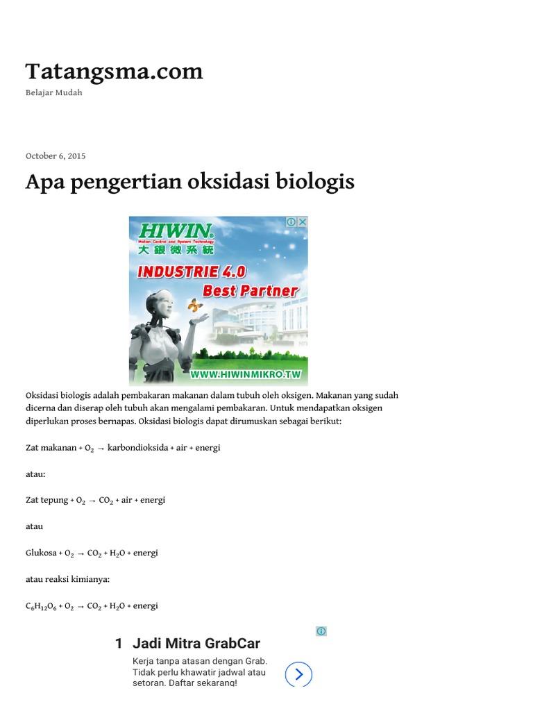Apa pengertian oksidasi biologis tatangsma stopboris Choice Image