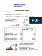 Perhitungan Produksi Excavator