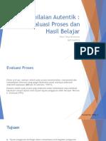 evaluasi proses dan hasil pembelajaran