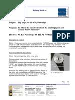 No.4-Safety Notice - Power Slip, Hinge Pin Exchange