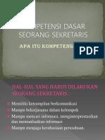 kompetensi dasar sekretaris
