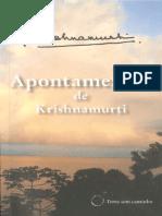 Apontamentos de Krishnamurti - Jiddu Krishnamurti
