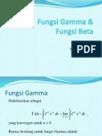 Pertemuan 1 Fungsi Gamma & Beta
