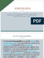 Teorias Demografía