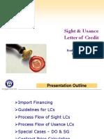 Trade Finance Sight & Usance LCs