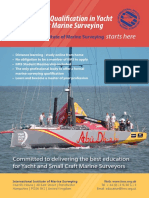 Professional Qualification in Yacht Small Craft Marine Surveying Prospectus