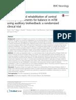 Disfunzioni specifiche in mTBI, central sensory impairments