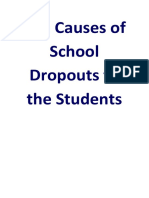 The Causes of School Dropouts to the Students