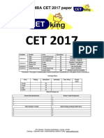 MBA CET 2017 Question Paper MAH MBA MMS DTE With Solution PDF