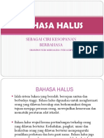 Bahasa Halus
