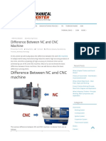 Difference Between NC and CNC Machine - Mechanical Booster