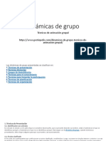 Dinamicas de Grupo y Tecnicas