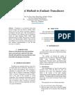 Experimental Methods on Transducers
