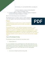 Psychological-Test Practicar