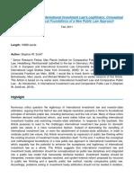 ARTICLE_ Enhancing International Investment Law's Legitimacy_ Conceptual and Methodological Foundati.pdf