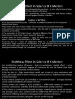 IHS-09 Matthew Effect in Science Final