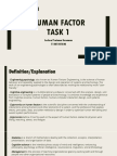 Human Factor Related Terms