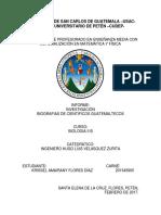VIDA DE CIENTÍFICOS GUATEMALTECOS