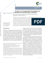 Propadienol production with saccharomyces