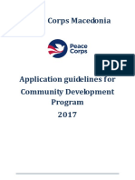 Peace Corps Guidelines Applications 2017 - Community Development (In Country)