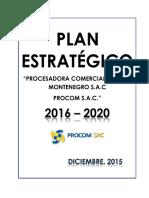 Plan Estratégico PROCOMSAC 2016-2020