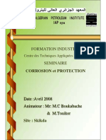 Seminaire, Corrosion & Protection