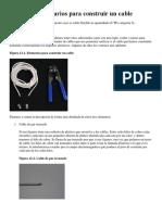 Elementos Necesarios Para Construir Un Cable