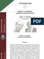Kuhn y Caparros. Crisis en Psicología. Roger Avila