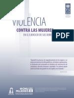 Violencia Contra Las Mujeres en El Ejercicio de Sus Derechos Politicos