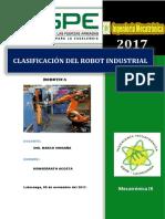 Clasificacioñ de Rovot Iñdustrial