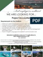 Job Flyer - Project Accountant