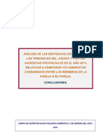 Informe 2013 sentencias