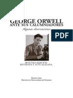 George Orwell Ante Sus Calumniadores_algunas Observaciones_2ed