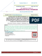 ESTIMATION OF PHYTOCHEMICALS AND SUN PROTECTION FACTOR (SPF) NUMBER IN COMMONLY USED ETHANOLIC FRUIT AND VEGETABLE EXTRACTS
