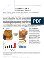 Processing Bulk Natural Wood Into a High-performance Structural Material