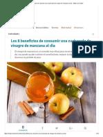 Los 8 Beneficios de Consumir Una Cucharada de Vinagre de Manzana Al Día - Mejor Con Salud