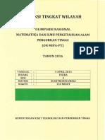 FISIKA Seleksi ONMIPA Tingkat Wilayah 2016