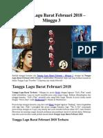Tangga Lagu Barat Februari 2018 – Minggu 3