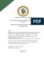 DISEÑO DE UN EQUIPO AUTOMÁTICO PARA COMPROBAR LAS CURVAS DE COMPORTAMIENTO (CORRIENTE Vs TIEMPO) ESTABLECIDAS PARA LOS FUSIBLES DE MEDIA TENSIÓN EN LA EMPRESA ELÉCTRICA AMBATO.