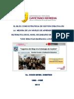 Ediciones Previas Plan de Accion El Blog Como Estrategia de Gestion Creativa en La Mejora de Los Niveles de Aprendizaje de La Matematica Ccesa007