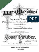 Gruber - Missa Mater Dolorosa