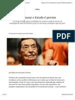 Maria Da Conceicao Tavares - Restaurar o Estado e Preciso