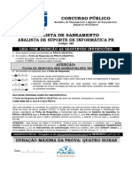 Fundep 2014 Copasa Analista de Saneamento Suporte de Informatica Prova