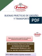 Buenas Prácticas de Ordeño y Transporte